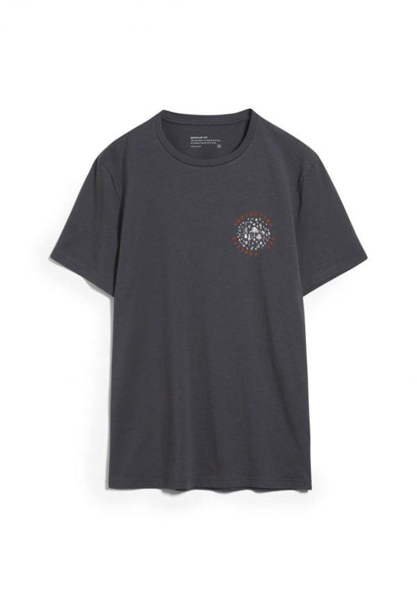 T-shirt Jaames Woods In Acid Black von ArmedAngels