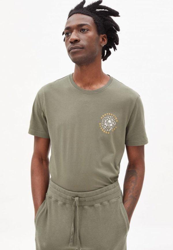 T-shirt Jaames Woods In Icy Moss von ArmedAngels