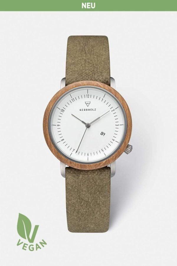 Uhr Carla Vegan - Oak Olive von Kerbholz