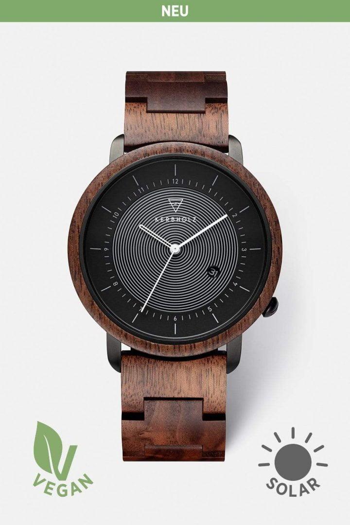 Uhr Michel Wood - Walnut von Kerbholz