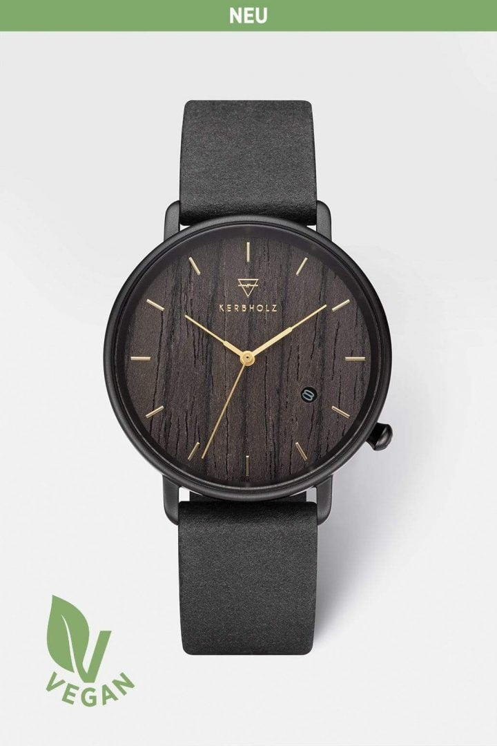 Uhr Tilda Vegan - Darkwood Black von Kerbholz